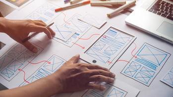Mobile Apps - UI/UX-Design Headerbild