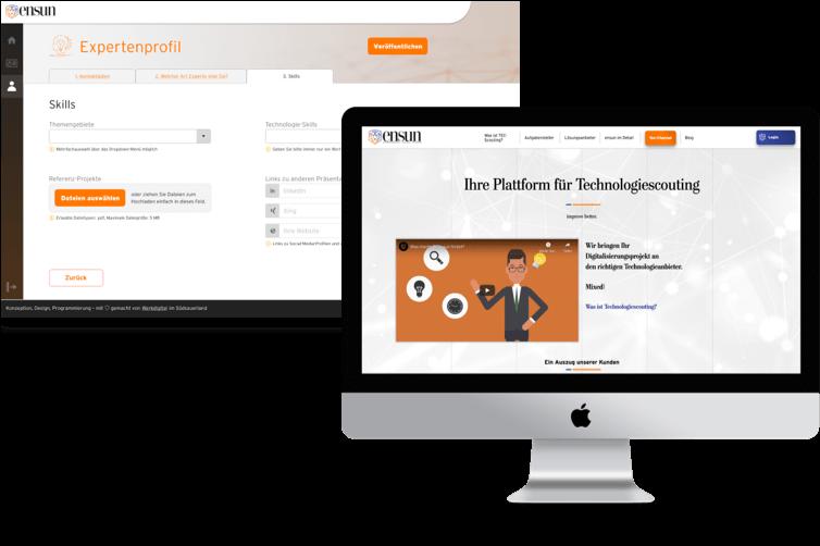 Ensun Expertenprofil und Startseite